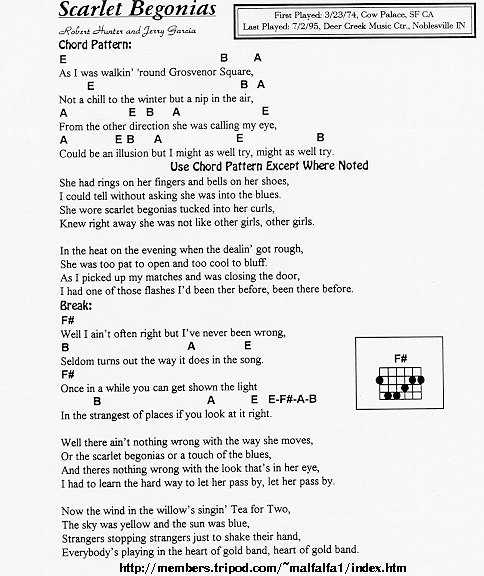 Grateful Dead Lyrics And Chords- Grateful Dead Words and Writings ...