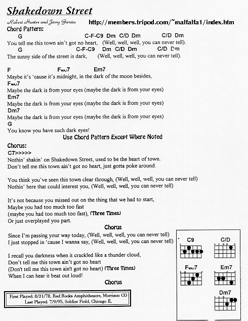 Grateful Dead Lyrics And Chords Grateful Dead Words And Writings